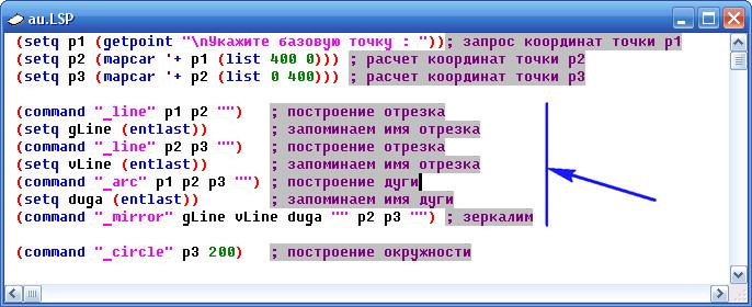 LISP. Komandy AutoCAD.